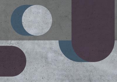 Fototapeta Kompozycja czterokolorowa o fakturze betonu