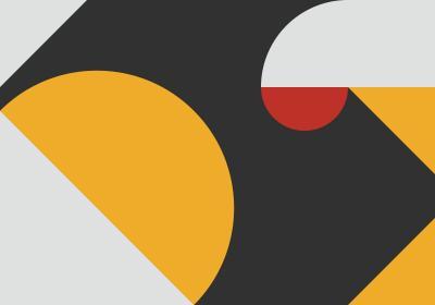 Fototapeta Kompozycja geometryczna z akcentem czerwieni