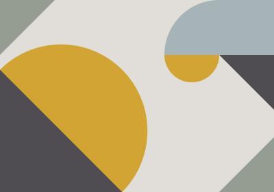 Fototapeta Kompozycja geometryczna z akcentem żółci