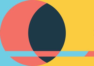 Fototapeta Kompozycja z kołem na kolorowym tle