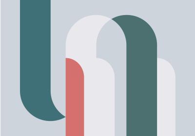 Fototapeta Konfiguracja geometryczna z kolorem living coral
