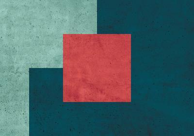 Fototapeta Kwadrat na lazurowym tle z betonową teksturą