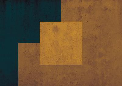 Fototapeta Kwadrat na miodowo-zielonym tle na betonowej teksturze