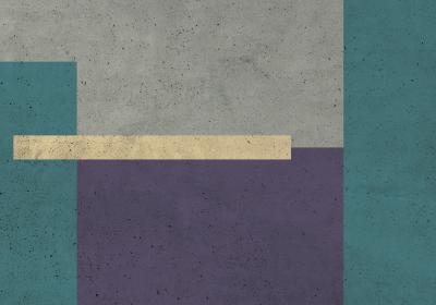 Fototapeta Prostokąty z dominującym fioletem z efektem betonu