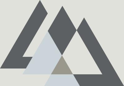 Fototapeta Sekwencja z szarymi trójkątami