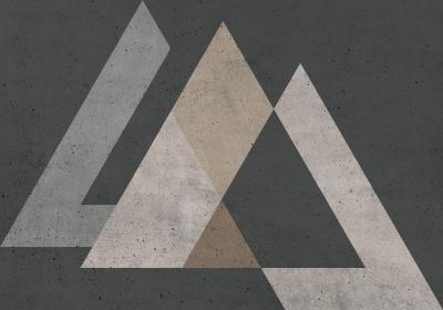 Fototapeta Sekwencja z trójkątami foremnymi imitującymi beton
