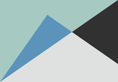Fototapeta Trójkąty różnoboczne z dominującą zielenią