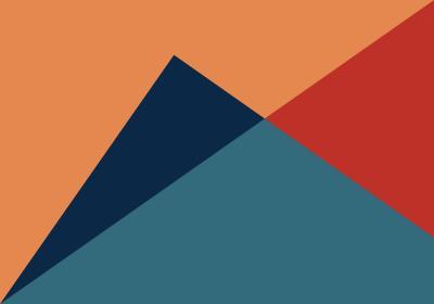 Fototapeta Trójkąty różnoboczne z dominującym pomarańczem