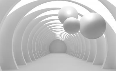 Fototapeta Ilustracja 3D krystalicznej piłki wzór na dekoracyjnym tle