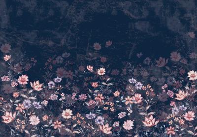 Fototapeta Kwiaty na nocnym niebie