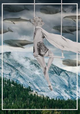 Plakat Kobieta na huśtawce