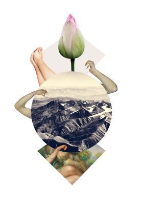 Plakat Natura w geometrycznej kompozycji