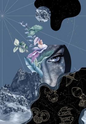 Plakat Znaki zodiaku i góry