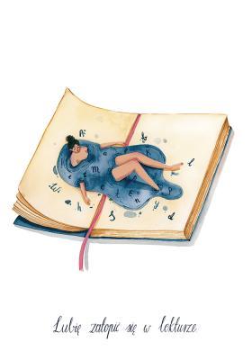 Plakat Lubię zatopić się w lekturze
