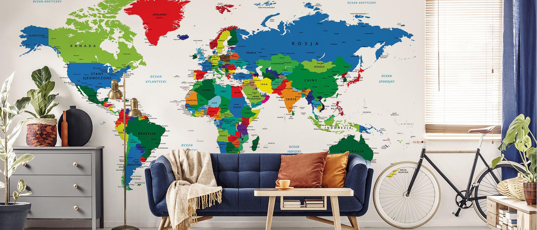 Fototapeta mapa polityczna