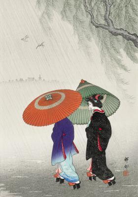 Plakat Gejsze pod parasolkami