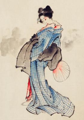 Plakat Japońska gejsza