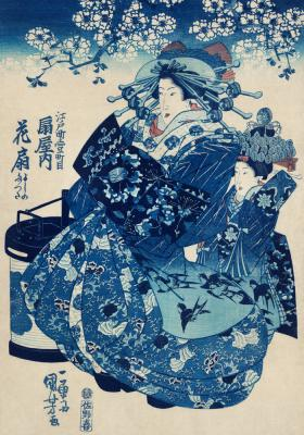 Plakat Japońska kurtyzana