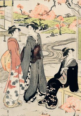 Plakat Rozmowy w japońskim ogrodzie