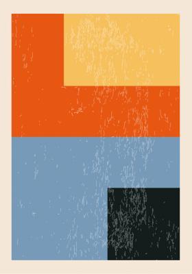 Plakat Figury geometryczne w czterech barwach