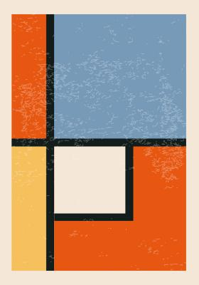Plakat Geometria prostokątna i kwadratowa