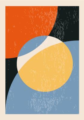 Plakat Kompozycja z okręgiem w centrum