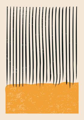 Plakat Kompozycja z pionowymi kreskami