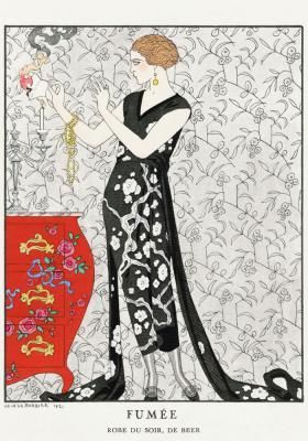 Plakat Arystokratka w biało-czarnej sukni