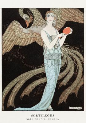 Plakat Arystokratka w sukni wieczorowej