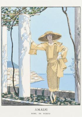 Plakat Dama w stroju wakacyjnym