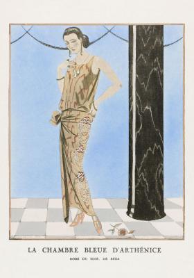 Plakat Elegantka w abstrakcyjnej sukni