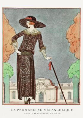 Plakat Wytworna kobieta w kapeluszu