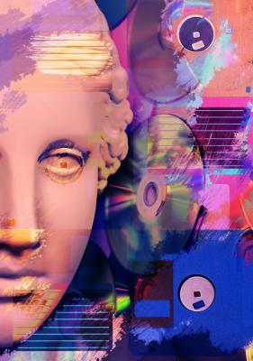 Plakat Antyczna kompozycja muzyczna