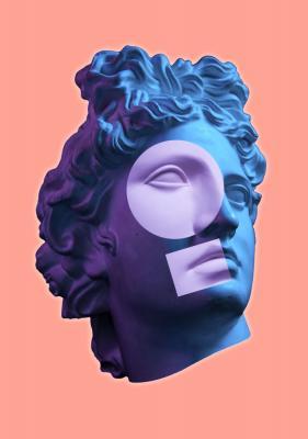 Plakat Figury geometryczne na rzeźbie