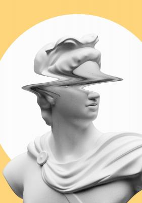 Plakat Rzeźba z rozmazaną twarzą