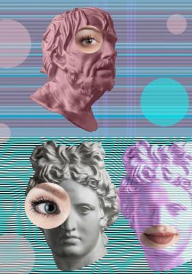 Plakat Surrealistyczne starożytne postaci