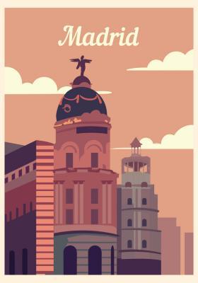 Plakat Architektura Madrytu