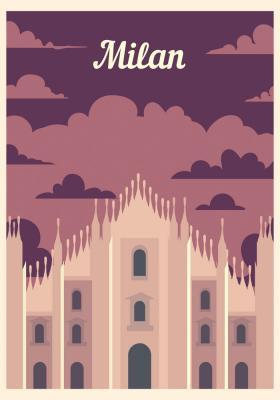 Plakat Gotycka Katedra w Mediolanie