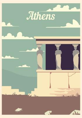 Plakat Greckie ruiny