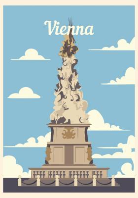 Plakat Kolumna morowa w Wiedniu