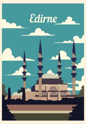 Plakat Meczet Selima II w Edirne