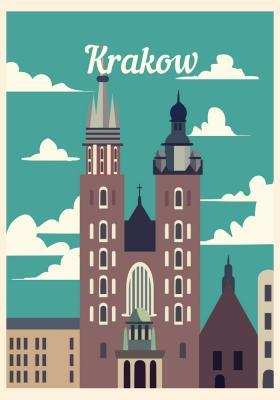 Plakat Stary Rynek w Krakowie