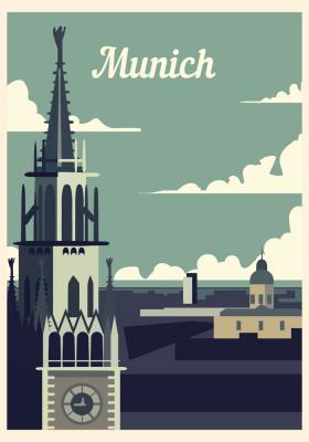Plakat Wieża w Monachium