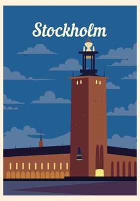 Plakat Zabudowa Sztokholmu