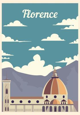 Plakat Zabytki Florencji