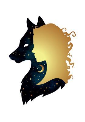 Plakat Dziewczyna z wilkiem