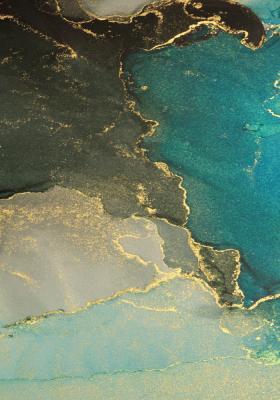 Plakat Marmur turkusowo-złoty