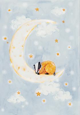 Plakat Borsuk na księżycu