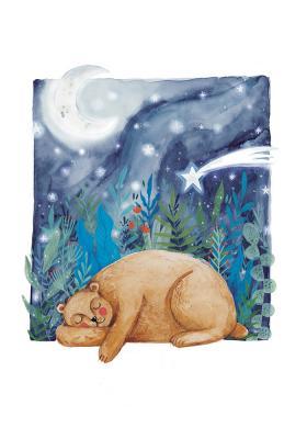 Plakat Niedźwiadek śpiący w górach