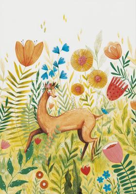 Plakat Sarenka na kwiatowej łące
